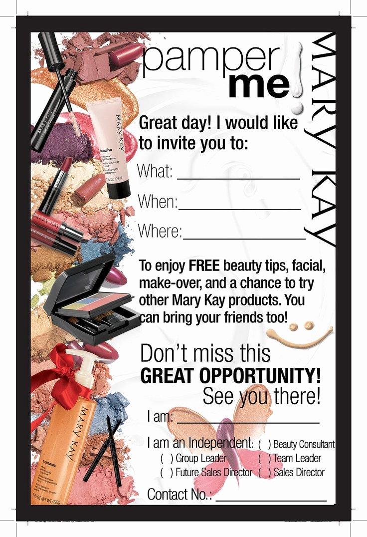 Mary Kay Invitations Template Awesome Mary Kay Hostess Program Flyer