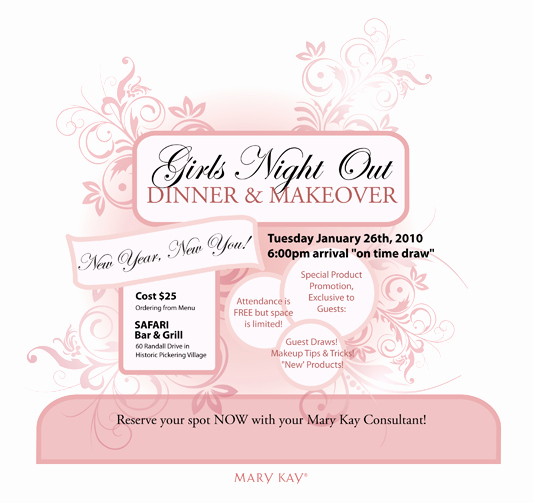 mary kay invitation ideas
