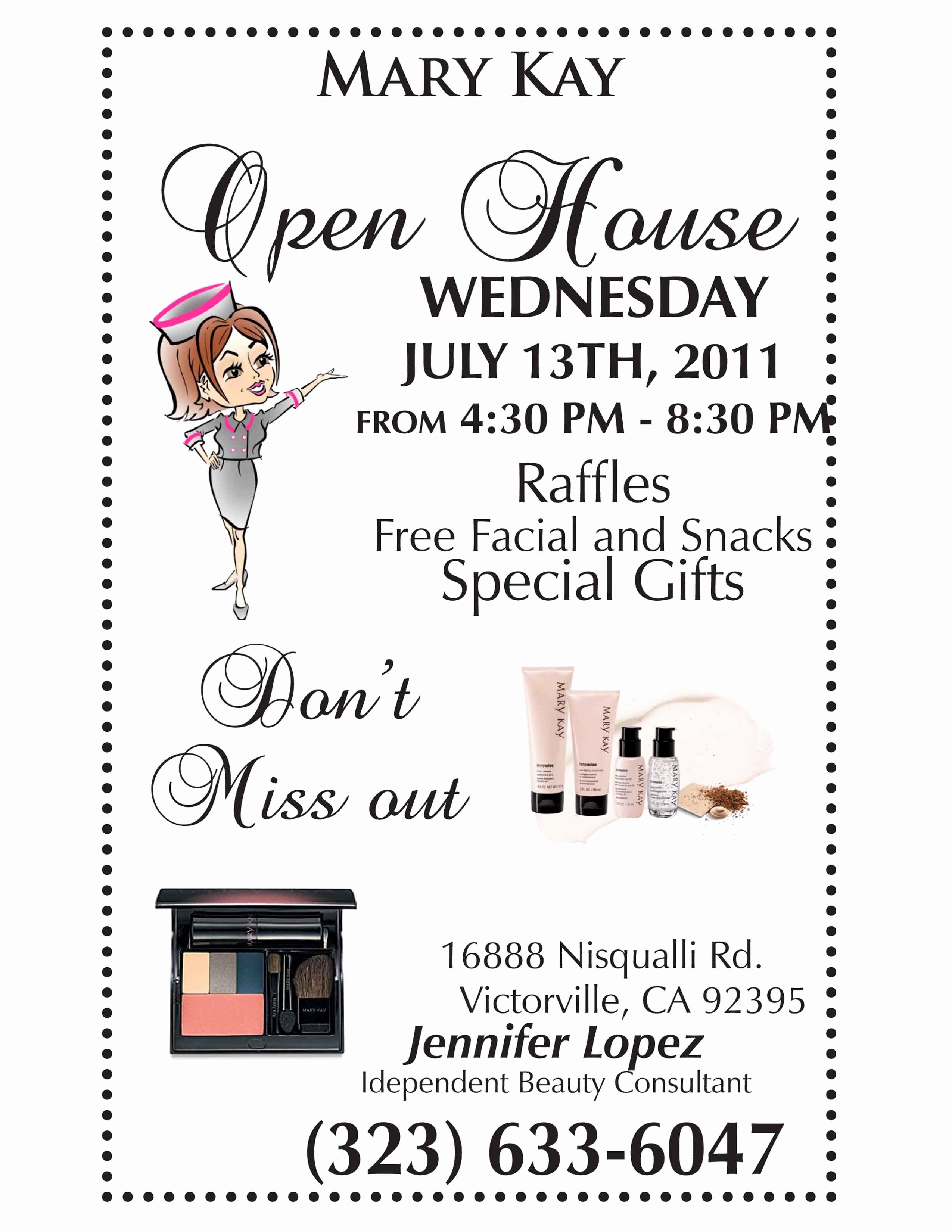Mary Kay Invitations Template Beautiful Mary Kay Open House Flyer It S My Bizness