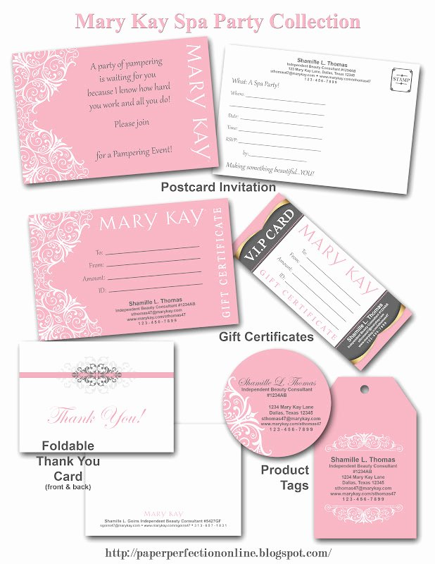 Mary Kay Invitations Template Best Of Paper Perfection Mary Kay Spa Party Printables
