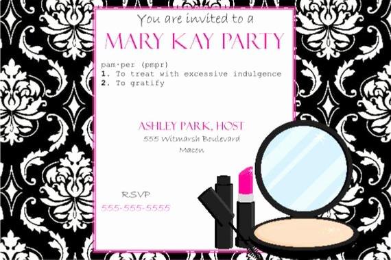 Mary Kay Invitations Template Lovely Items Similar to Pink and Black Party Invitation Mary Kay