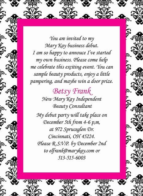 Mary Kay Invitations Template Lovely Mary Kay Party Invitation Templates