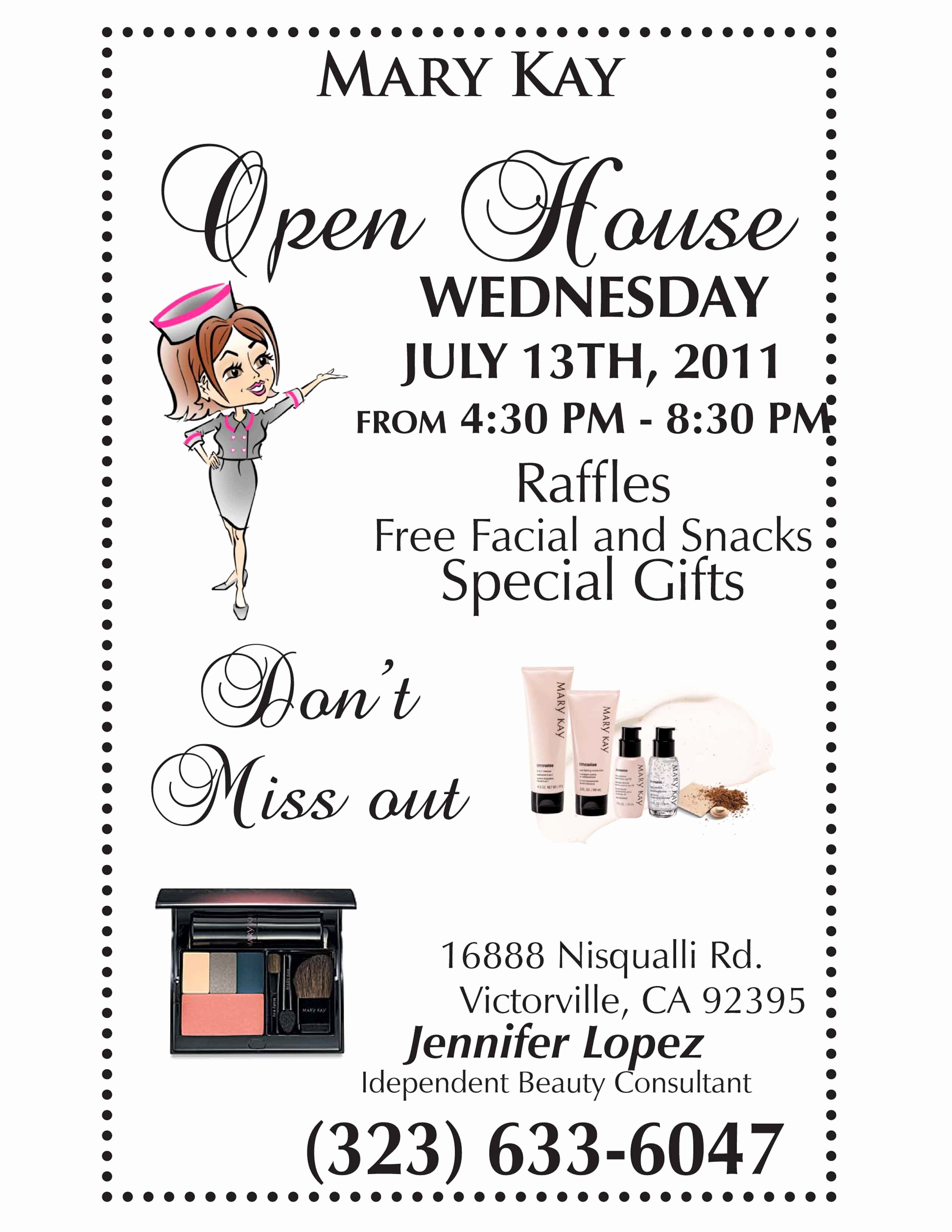 Mary Kay Invitations Template New Mary Kay Open House Flyer Template Google Search