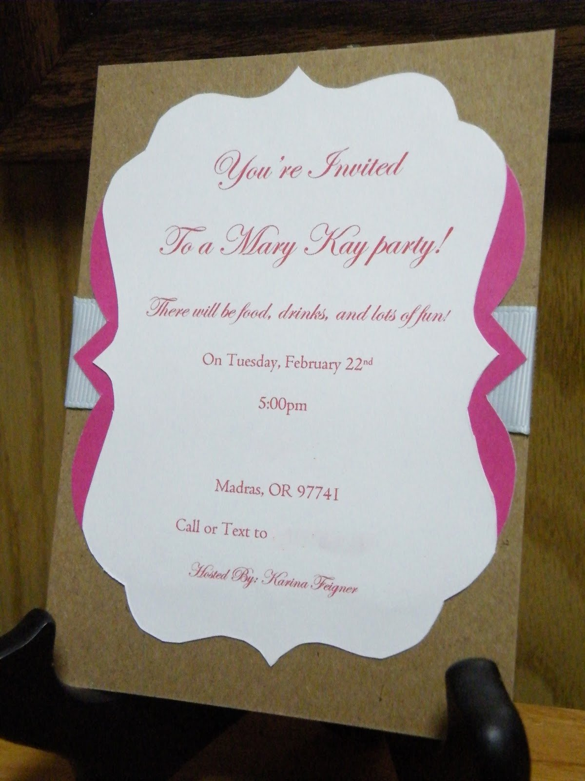 Mary Kay Invitations Template Unique the Crafty Housewife Mary Kay Party Invite