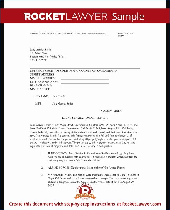 Maryland Separation Agreement Template Inspirational Maryland Separation Agreement Template Fxbaseball