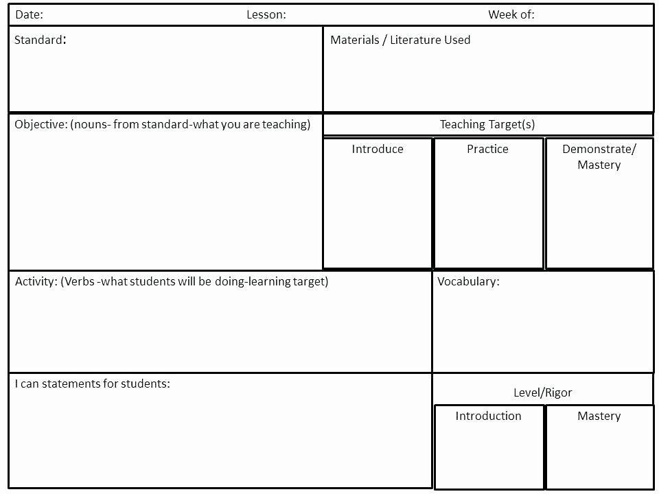 Marzano Lesson Plan Template Awesome Academic Vocabulary Journals Six Steps for Building Lesson