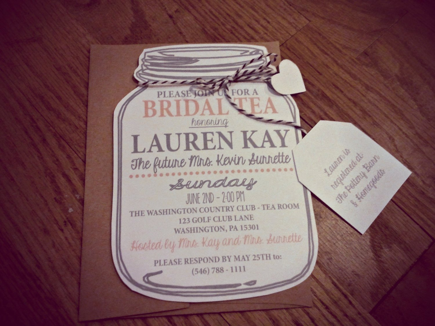 Mason Jar Invitation Template Awesome Mason Jar Bridal Tea Invitation Bridal Shower by Neillydesign