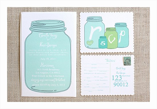 Mason Jar Invitation Template Awesome Wedding Chicks – Mason Jar Invitation Suite – Like A Cup