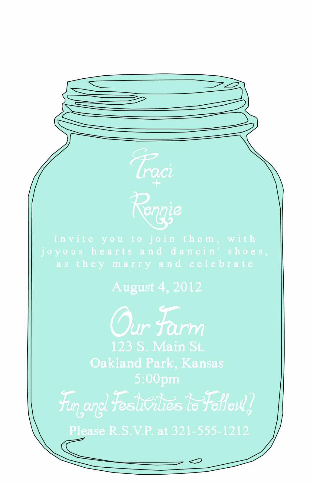 Mason Jar Invitation Template Inspirational Mason Jar Wedding Invitation Templates