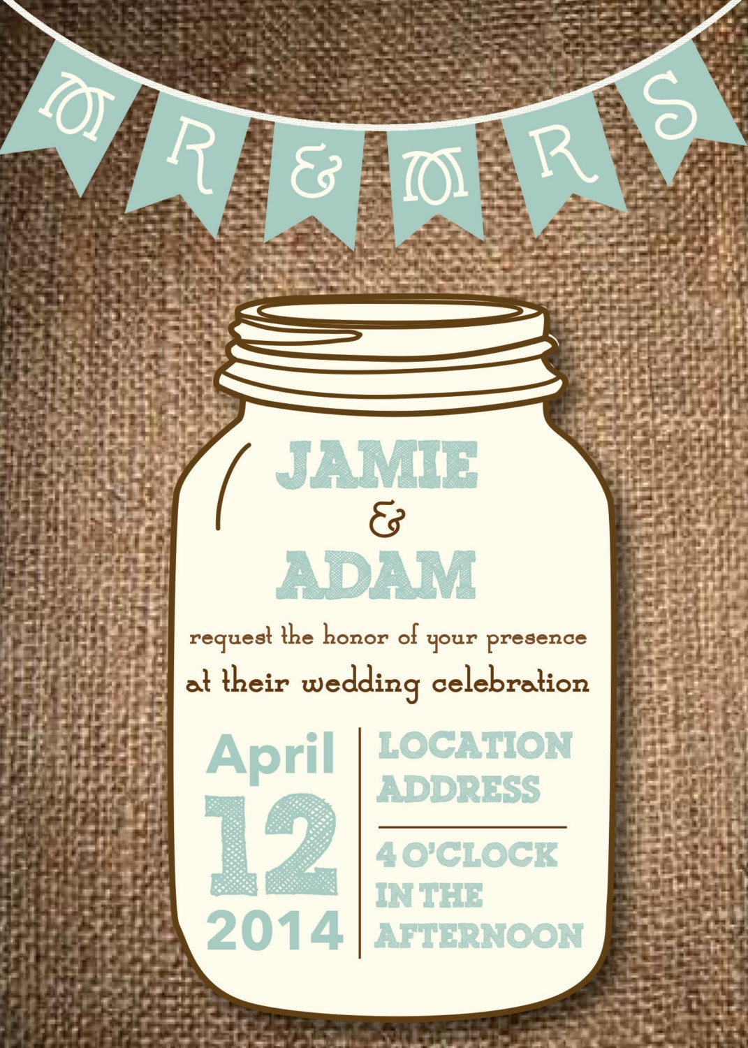 Mason Jar Invitation Template Lovely Kitchen & Dining