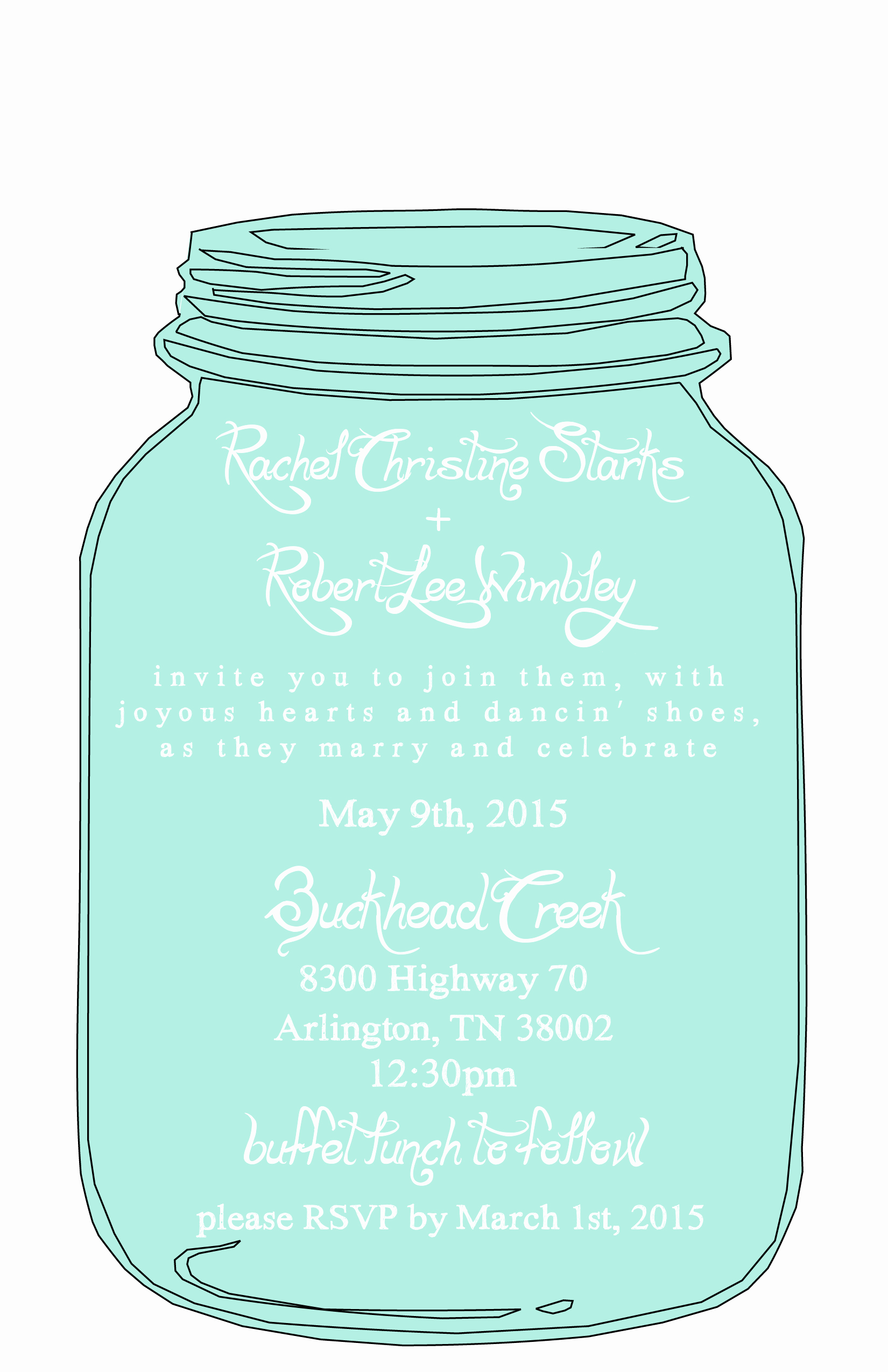 Mason Jar Invitation Template Lovely Mason Jar Free Printable Wedding Invitations Templates