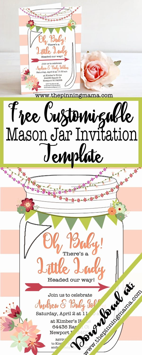 Mason Jar Invitation Template Luxury Free Printable Mason Jar Invitation