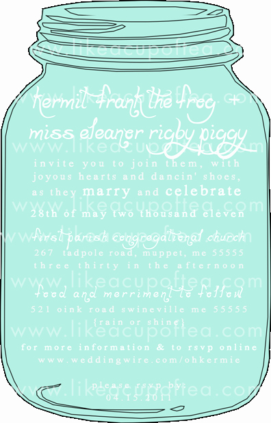 Mason Jar Invitation Template Luxury Mason Jar Wedding Invitation Set – Diy Template – Like A