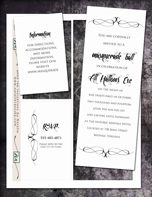 Masquerade Invitation Template Free Awesome 18 Masquerade Invitation Templates – Free Sample Example
