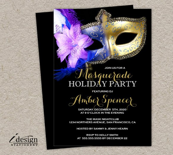 Masquerade Invitation Template Free Awesome 24 Masquerade Invitation Templates Word Psd Ai Eps