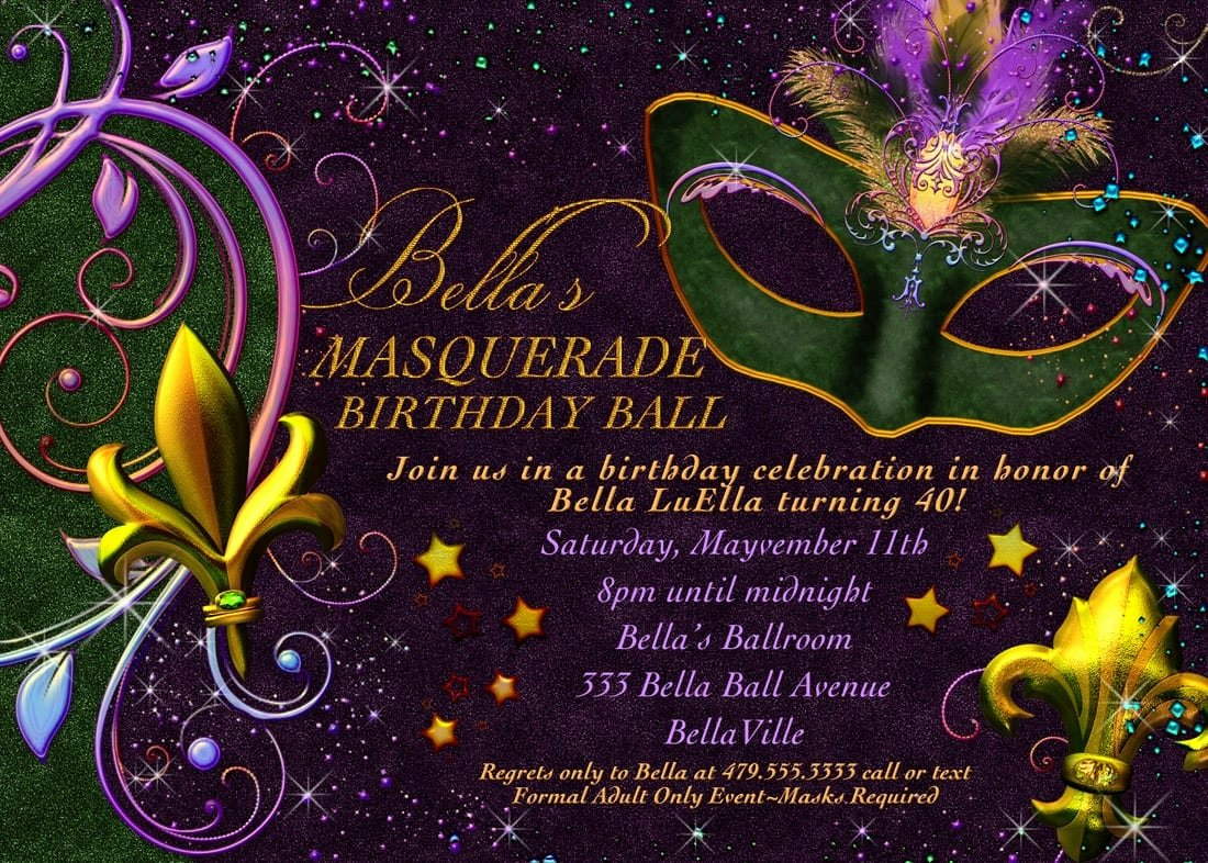 Masquerade Invitation Template Free Best Of Free Printable Mardi Gras Invitation