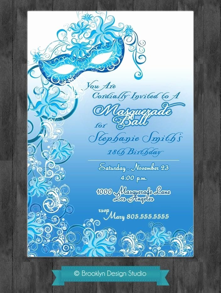 Masquerade Invitation Template Free Elegant Masquerade Ball Invitation