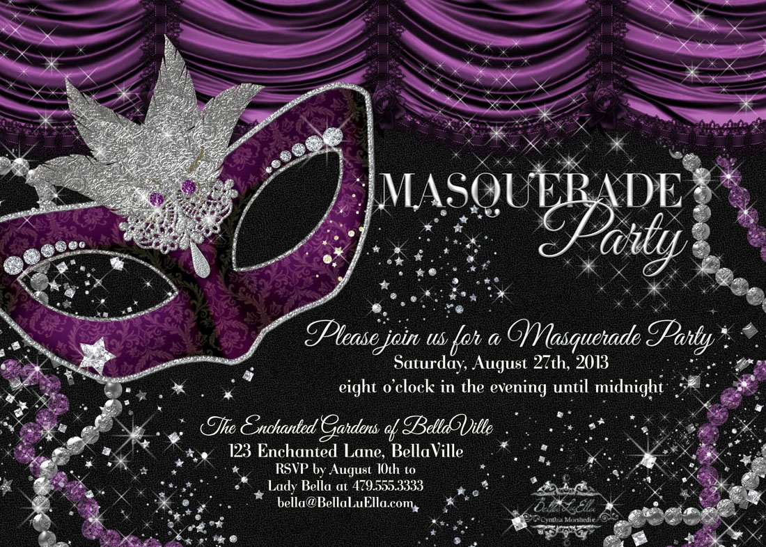 Masquerade Invitation Template Free Fresh Bella Luella Masquerade Parties for Spring and Summer