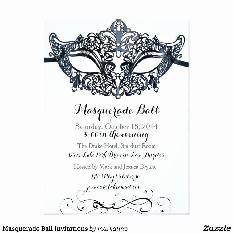 Masquerade Invitation Template Free Fresh Masquerade Ball Invitations