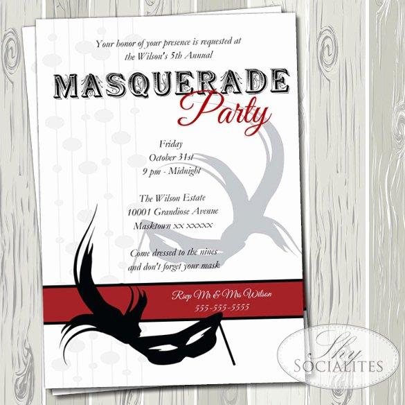 Masquerade Invitation Template Free Luxury 18 Masquerade Invitation Templates – Free Sample Example