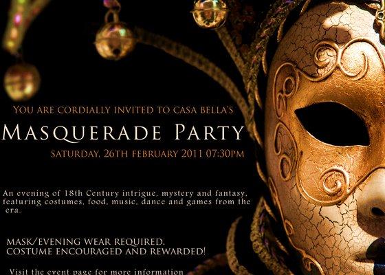 Masquerade Invitation Template Free New Casa Bella S Masquerade Party Line Invitations & Cards