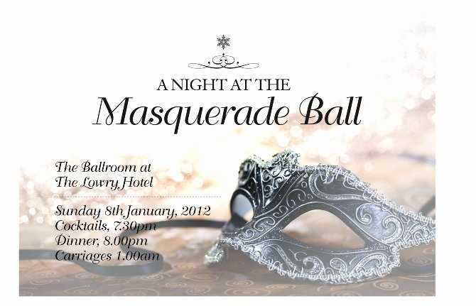Masquerade Invitation Template Free New Masquerade Ball Invitation Janine Wilcock Design Portfolio