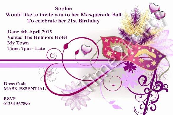 Masquerade Invitation Template Free Unique 24 Masquerade Invitation Templates Word Psd Ai Eps