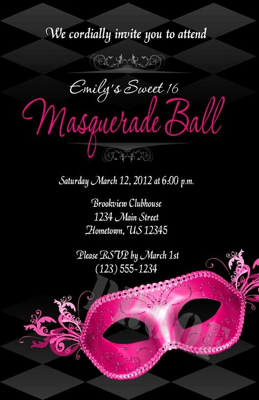 Masquerade Invitations Template Free Elegant 54 Inspirational Masquerade Ball Party Favors