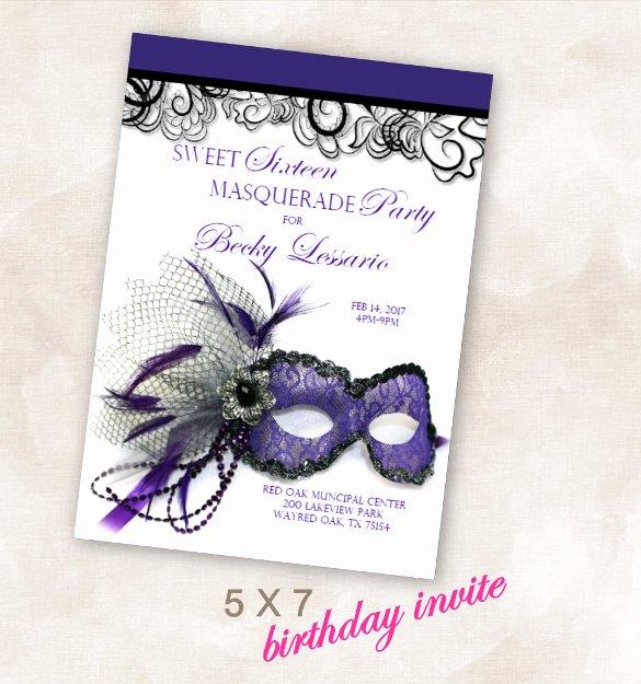 Masquerade Invitations Template Free Fresh 24 Masquerade Invitation Templates Word Psd Ai Eps