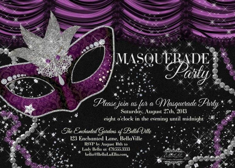 Masquerade Invitations Template Free Inspirational Free Masquerade Party Invitation Templates