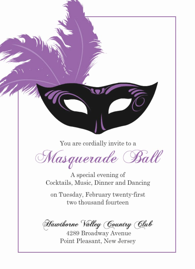 Masquerade Invitations Template Free Lovely Masquerade Invitation Template Free – orderecigsjuicefo