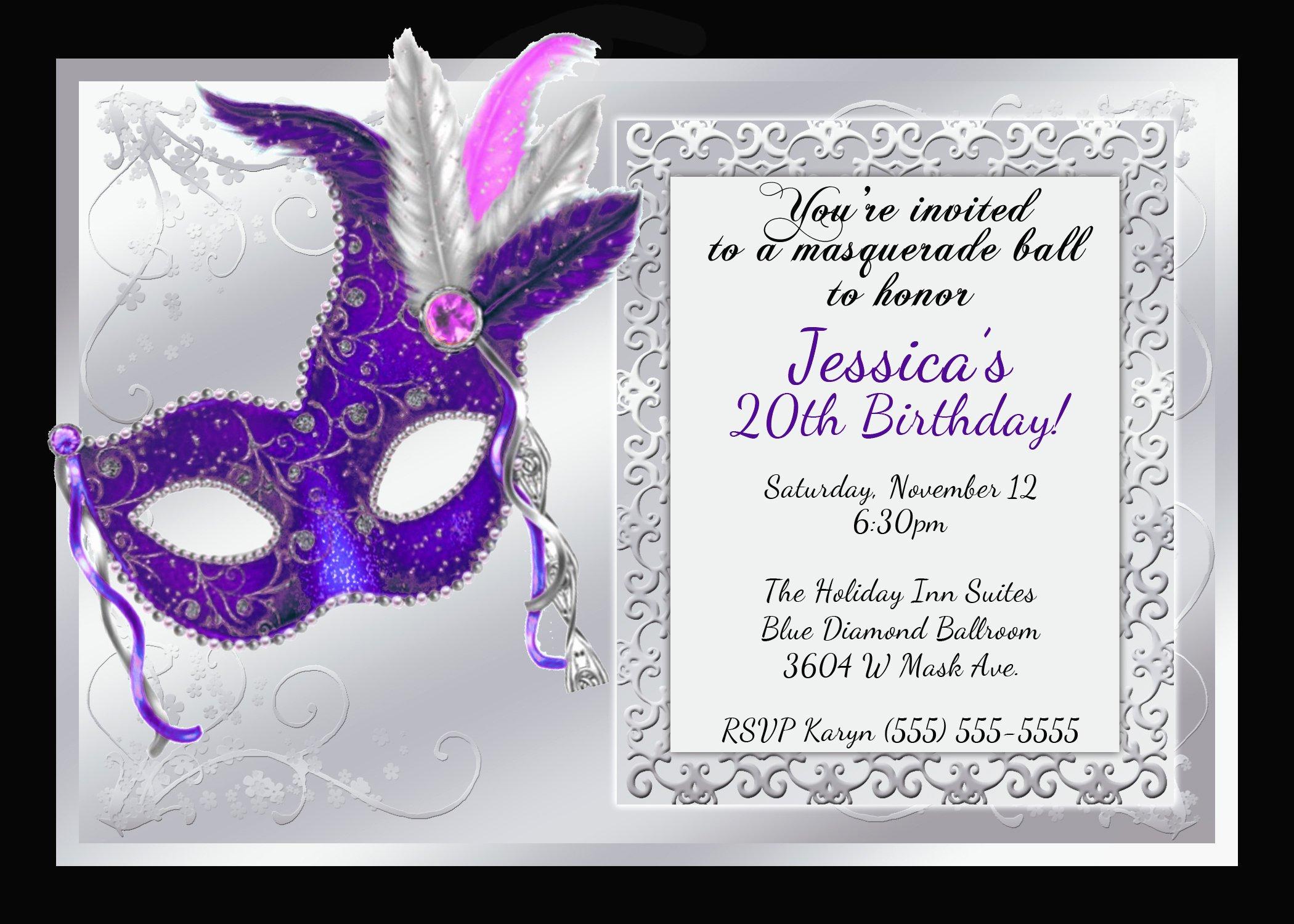 Masquerade Invitations Template Free Luxury Mardi Gras and Masquerade Birthday Invitations
