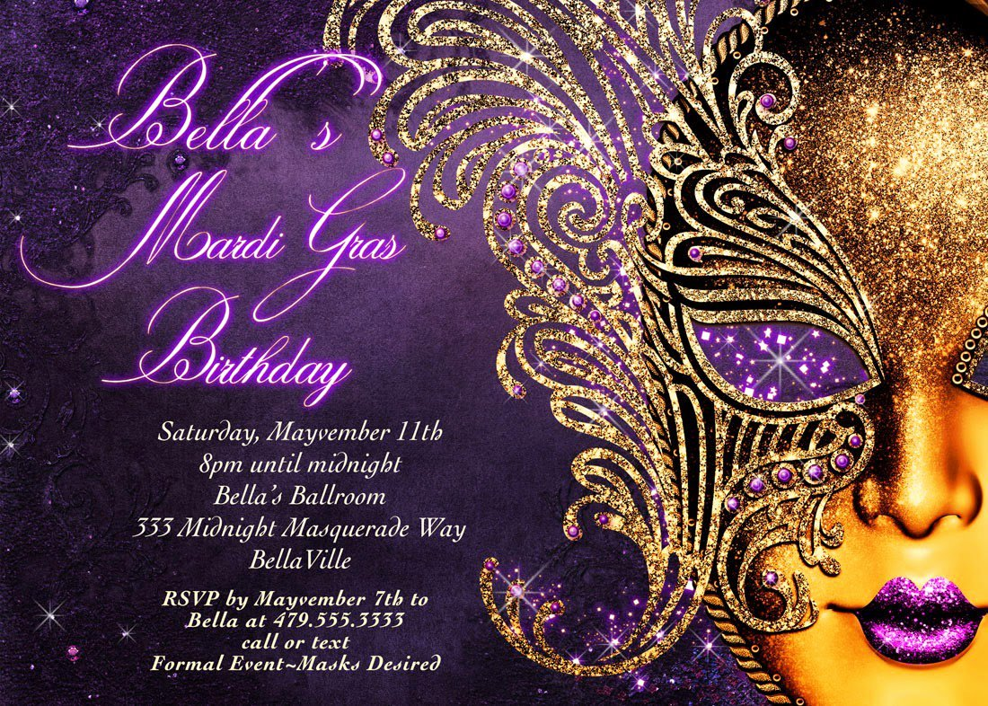 Masquerade Invitations Template Free New Masquerade Party Invitations Templates