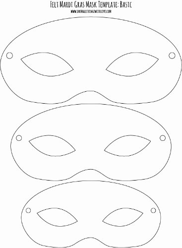 Masquerade Mask Template Printable Beautiful Felt Mardi Gras Masks for Kids Free Printable – Do Small