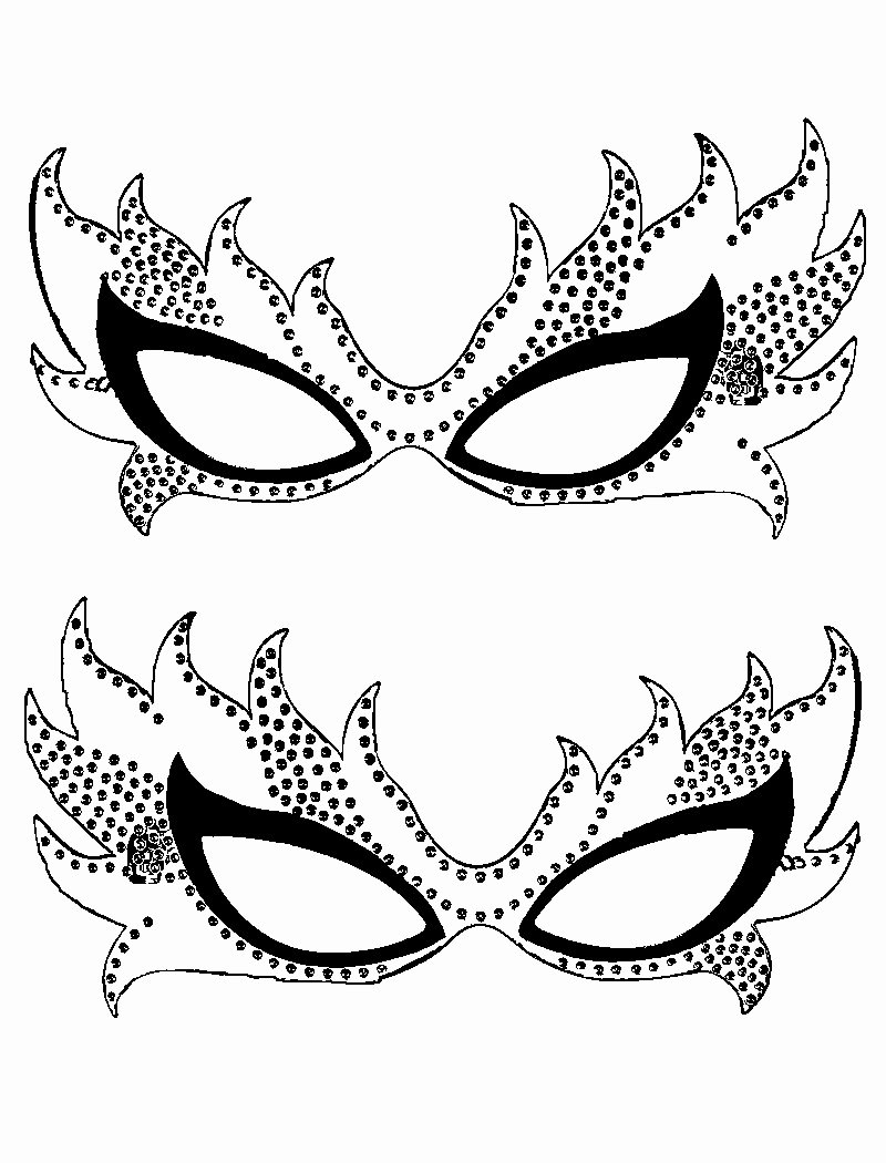 Masquerade Mask Template Printable Beautiful Free Printable Mardi Gras Coloring Pages for Kids