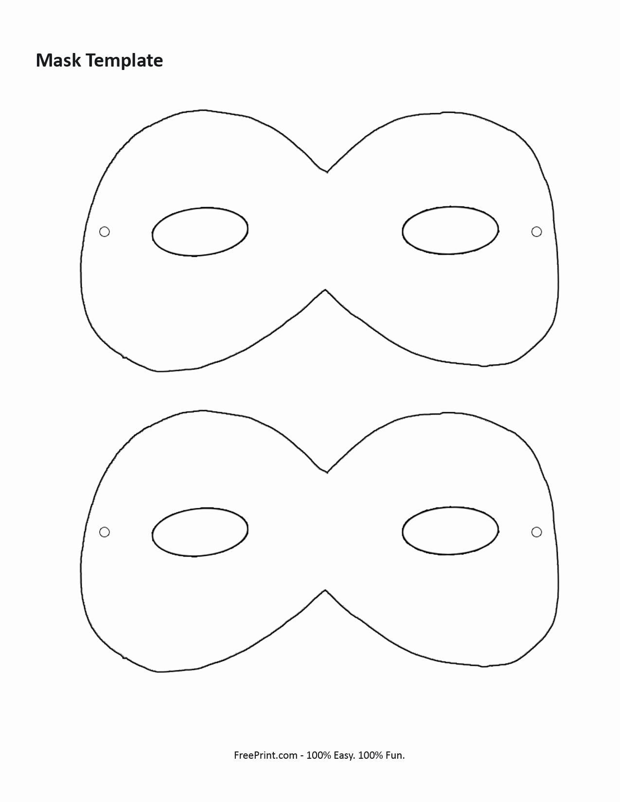 Masquerade Mask Template Printable Fresh 10 Best Of Printable Masquerade Masks Free