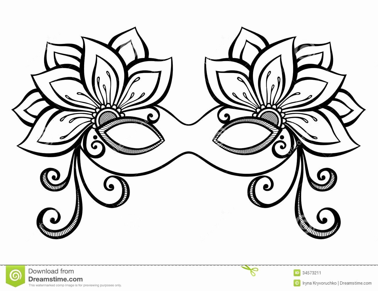 Masquerade Mask Template Printable Inspirational Masquerade Masks Drawingsmasquerade Mask Stock Image
