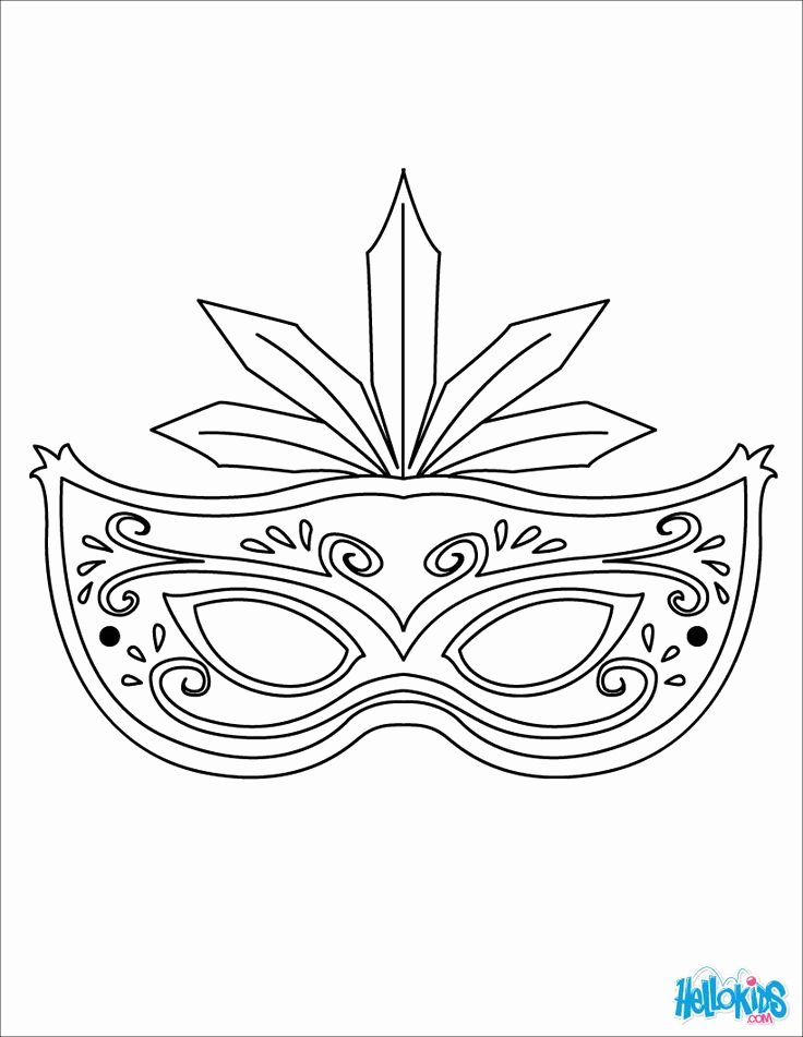 Masquerade Mask Template Printable Luxury Masquerade Mask Coloring Page