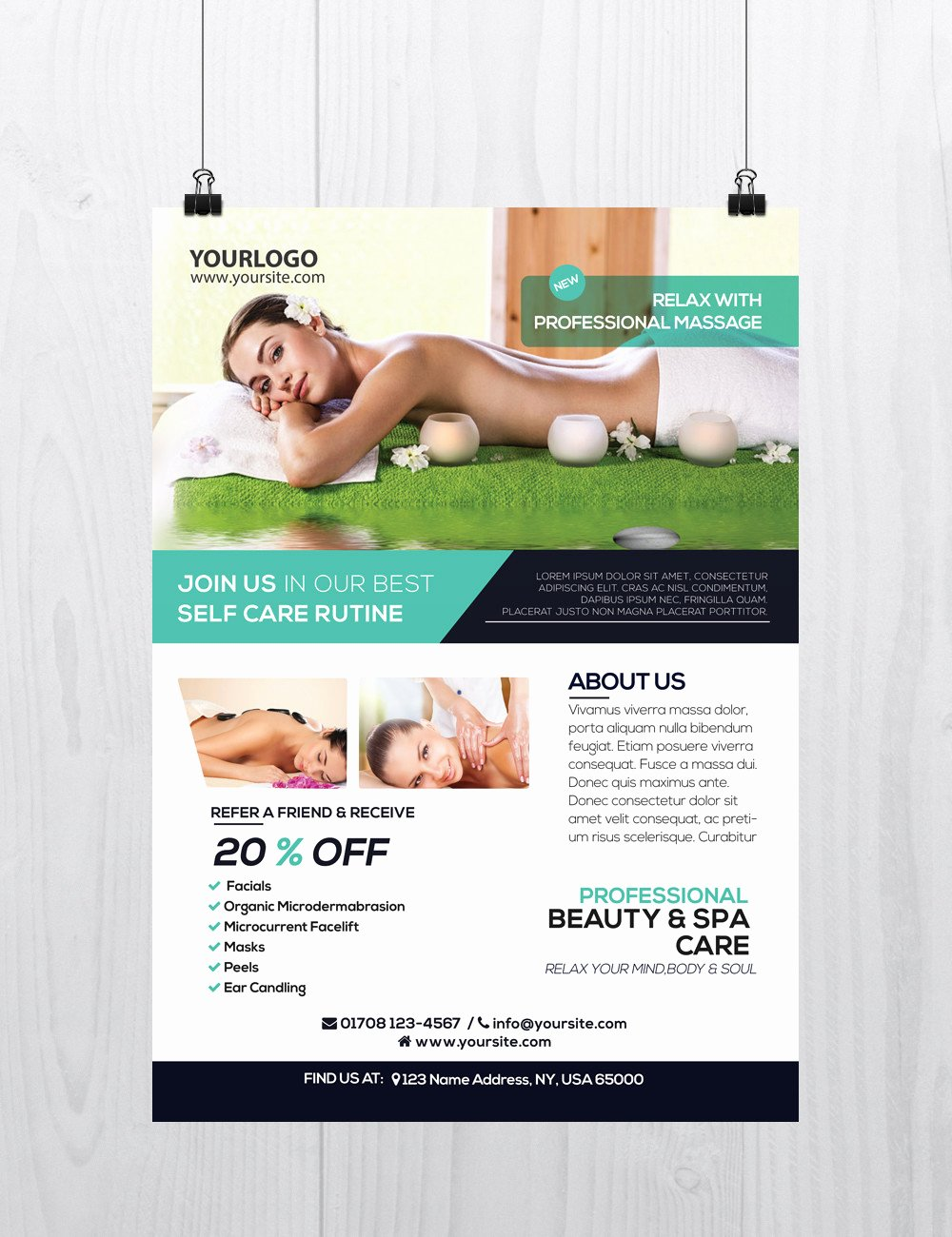 Massage Flyer Template Free Awesome Massage and Health Download Free Psd Flyer Template