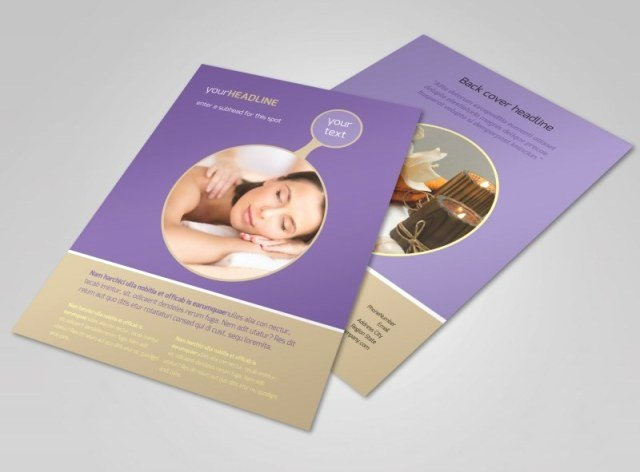 Massage Flyer Template Free Awesome Massage therapy Flyer Free Download Printable