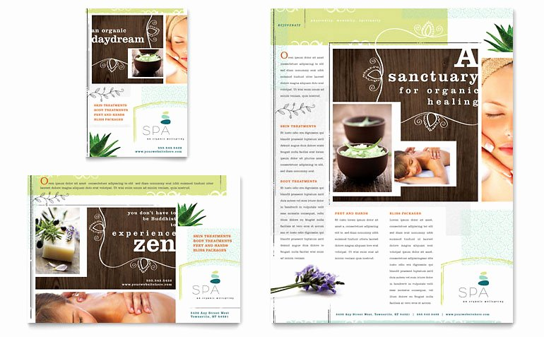Massage Flyer Template Free Beautiful Day Spa Flyer & Ad Template Word & Publisher