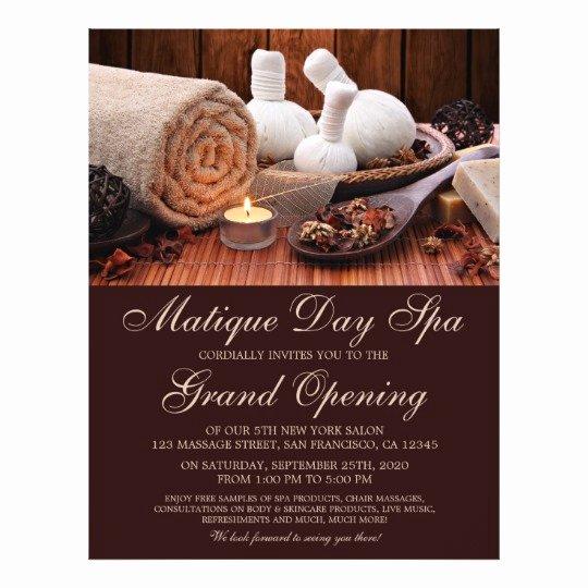Massage Flyer Template Free Beautiful Day Spa Massage Salon Grand Opening Flyer