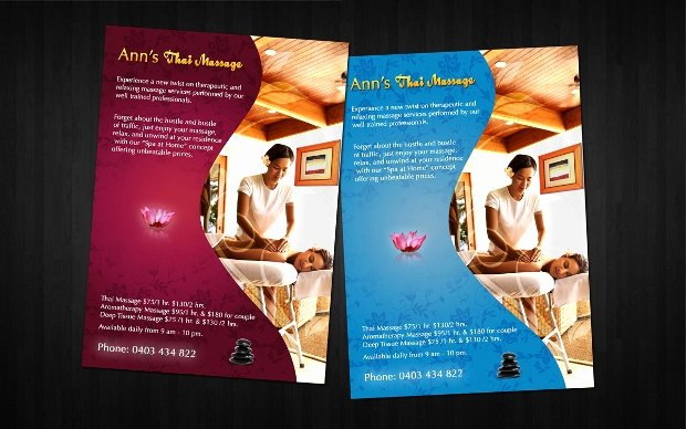 Massage Flyer Template Free Best Of 19 Massage Flyer Templates Printable Psd Ai Vector