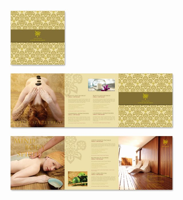 Massage Flyer Template Free Best Of Natural Day Spa & Massage Brochure Template