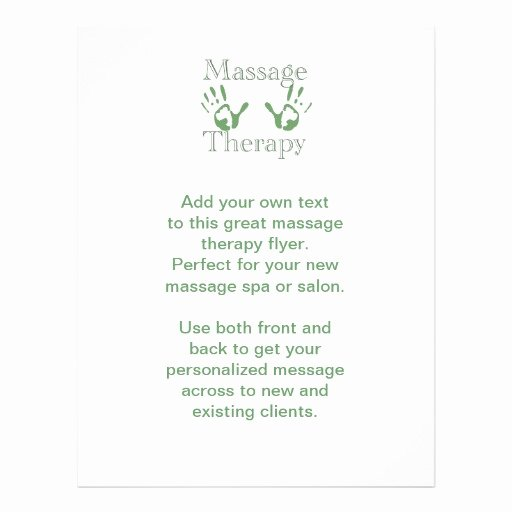 Massage Flyer Template Free Elegant Massage therapy Hand Prints Flyer Design