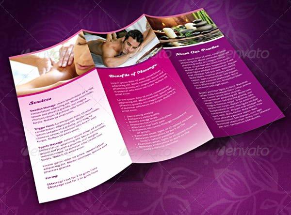 Massage Flyer Template Free Inspirational 7 Massage Brochures Printable Psd Ai Indesign Vector