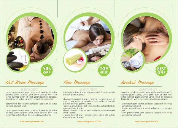 Massage Flyer Template Free Lovely 17 Massage Brochures Psd Eps format Download