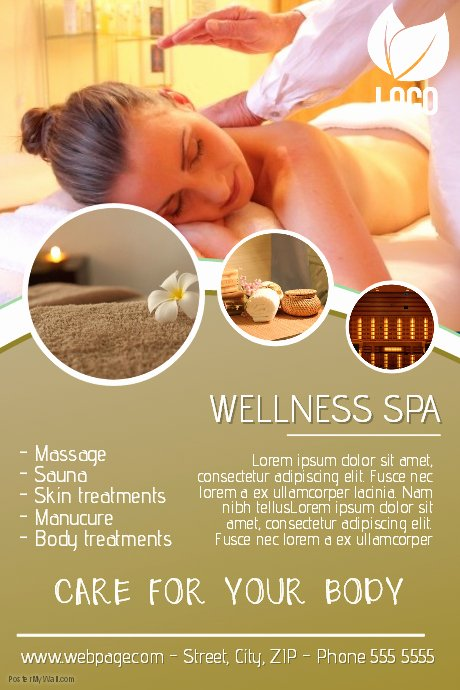 Massage Flyer Template Free New Beauty Spa and Massage Flyer Template