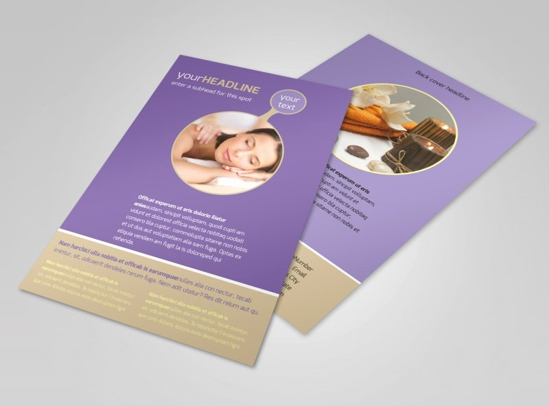 Massage Flyer Template Free New Massage therapy Flyer Template
