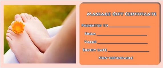 Massage Gift Certificate Template Awesome Massage Gift Certificate Template 14 Free Printable